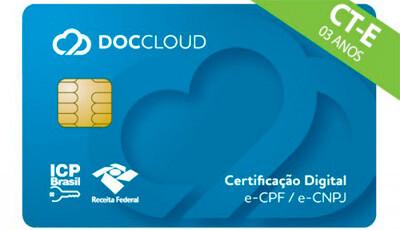 Cartão DOCCLOUD certificação Digital de CPF e CNPJ